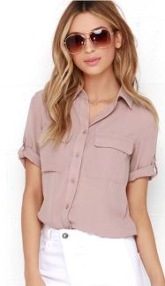 BEST OF FRIENDS MAUVE BUTTON-UP TOP $46 - https://www.lulus.com/products/best-of-friends-mauve-button-up-top/220154.html