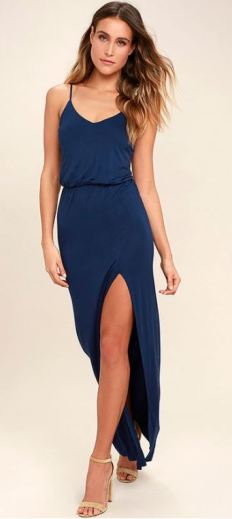 WATCH THE SUNSET NAVY BLUE MAXI DRESS $40 - https://www.lulus.com/products/watch-the-sunset-navy-blue-maxi-dress/423642.html