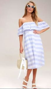 TRANSATLANTIC VOYAGE BLUE AND IVORY STRIPED MIDI DRESS $50 - https://www.lulus.com/products/transatlantic-voyage-blue-and-ivory-striped-midi-dress/305702.html