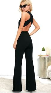 THINKING OUT LOUD BLACK BACKLESS JUMPSUIT $52 - https://www.lulus.com/products/thinking-out-loud-black-backless-jumpsuit/325812.html