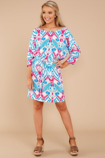 Make It Easy Multi Print Dress $42 - https://www.reddressboutique.com/collections/all-clothing/products/make-it-easy-multi-print-dress