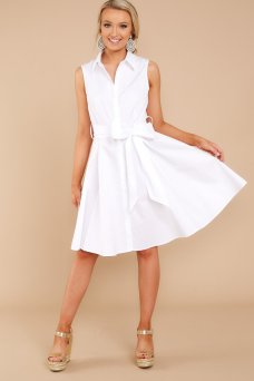 On That Day White Button Up Dress $42 - https://www.reddressboutique.com/collections/all-clothing/products/on-that-day-white-button-up-dress