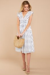 In The Midst Of Summer Blue Striped Dress $38 - https://www.reddressboutique.com/collections/all-clothing/products/in-the-midst-of-summer-blue-striped-dress
