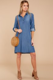 Most Pinned Dark Denim Shirt Dress $39 - https://www.reddressboutique.com/collections/all-clothing/products/most-pinned-dark-denim-shirt-dress