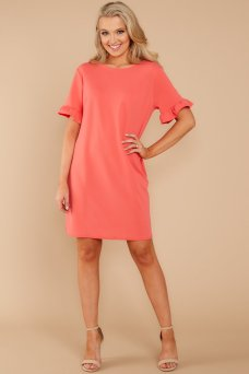 Bring It Together Coral Pink Dress AURA $32 - https://www.reddressboutique.com/collections/all-clothing/products/bring-it-together-coral-pink-dress
