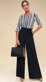 SAME PAGE NAVY BLUE WIDE-LEG PANTS $46 - https://www.lulus.com/products/same-page-navy-blue-wide-leg-pants/595502.html