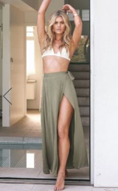 Misty Eyed Skirt In Khaki $42.95 - https://www.showpo.com/us/misty-eyed-skirt-in-khaki