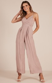 Your Times Up Jumpsuit In Mocha $53.95 - https://www.showpo.com/us/your-times-up-jumpsuit-in-mocha