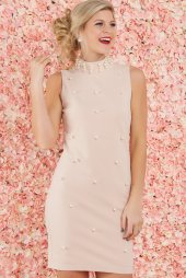Perfect Pearl Blush Pink Dress $46 - https://www.reddressboutique.com/collections/party-dresses/products/perfect-pearl-blush-pink-dress