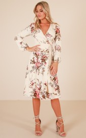 Hold The Line Midi Dress In Cream Floral $57.95 - https://www.showpo.com/us/hold-the-line-midi-dress-in-cream-floral